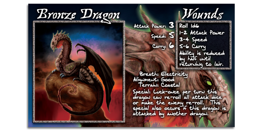 Bronze Dragon Card