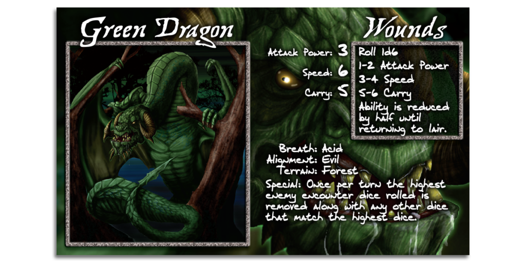 Green Dragon Card