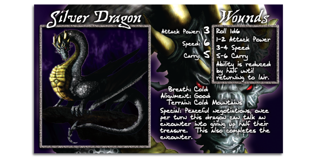 Silver Dragon Card