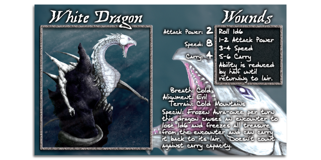 White Dragon Card